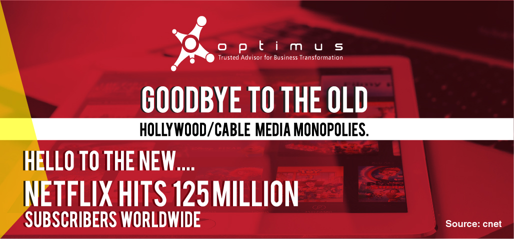 Goodbye To The Old Hollywood/Cable Media Monopolies.  Hello To The New… Netflix Hits 125 Million Subscribers Worldwide