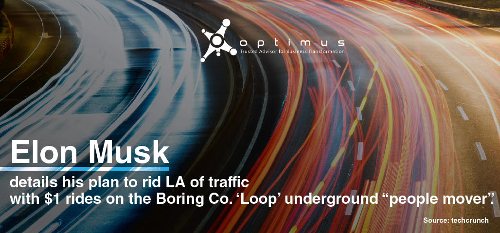 "Elon Musk Details His Plan To Rid LA Of Traffic With $1 Rides In His 'Loop' Underground ""people Mover""."