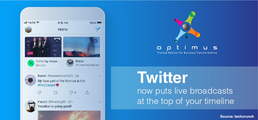 Twitter Now Puts Live Broadcasts At The Top Of Your Timeline