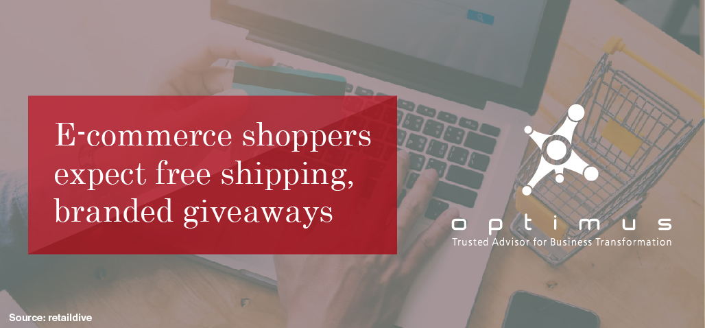 E-commerce Shoppers Expect Free Shipping, Branded Giveaways