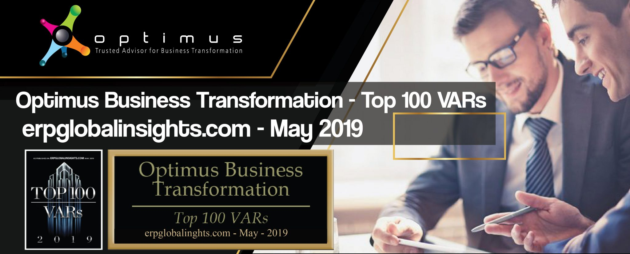 Optimus Business Transformation Has Been Named To The Top 100 VARs (ERP Consulting Firms) For 2019