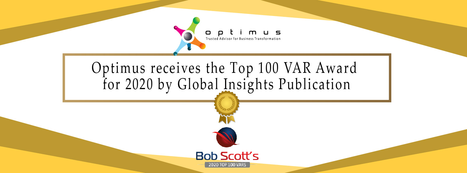 Optimus Receives The Top 100 VAR Award For 2020 By Global Insights Publication