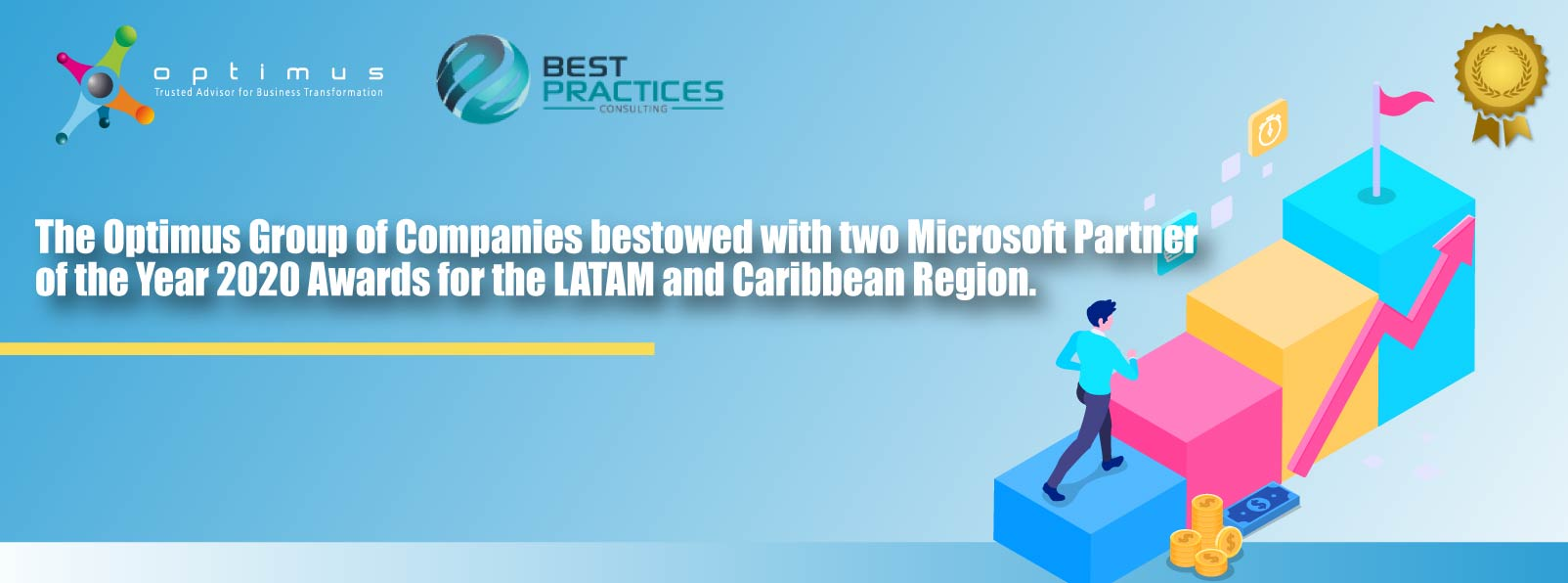 The Optimus Group Of Companies Bestowed With Two Microsoft Partner Of The Year 2020 Awards For The LATAM And Caribbean Region.